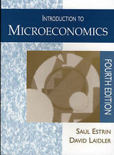Introduction to Microeconomics by Estrin, Saul, Laidler, David E.W.