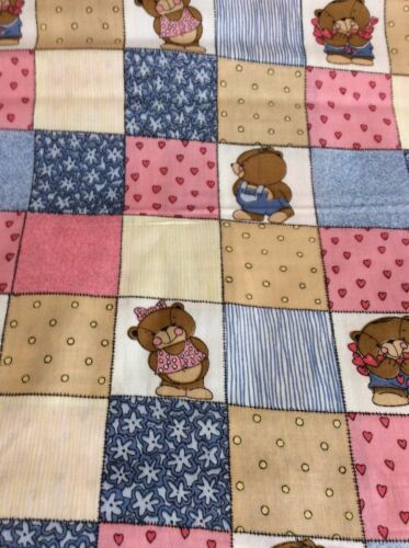 BEARS  /& PATCHWORK COTTON---BY THE YARD