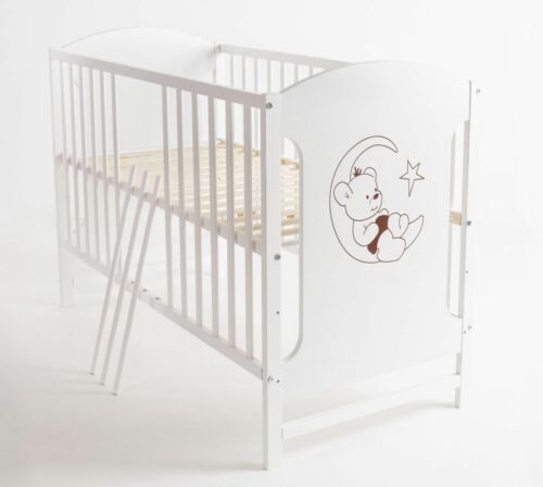 Babybett Kinderbett Mondbär 120x60 Bettset Matratze Design B6 Neu