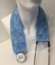 Light Blue Swirl MD RN EMT LPN Stethoscope Cover  Buy 3 GET FREE SHIPPING