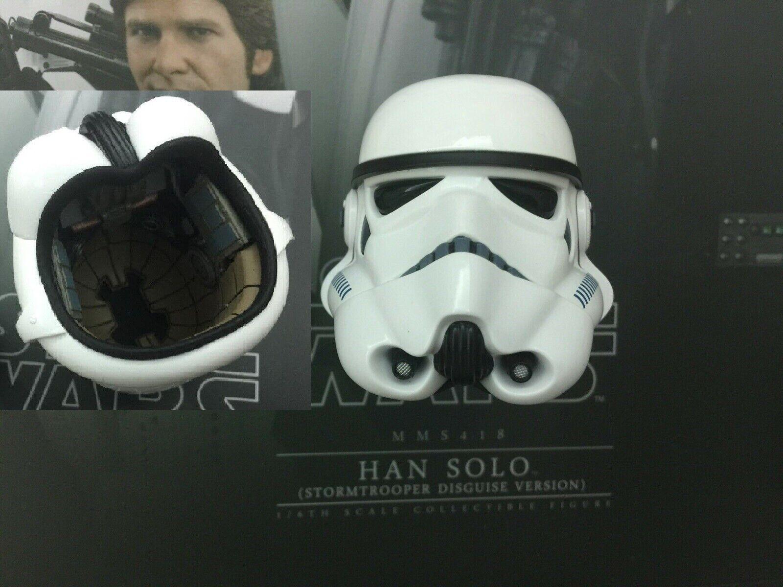 Hot juguetes Estrella wars han solo MMS418 Stormtrooper-casco escala 1 6th & Peg
