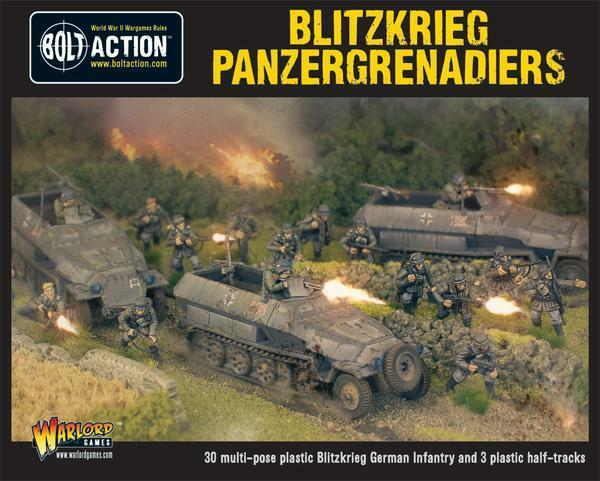 Warlord Bolt Action Blitzkreig Panzergrenadiers (30+3 Hanomags) WGB-WM-511 NEW