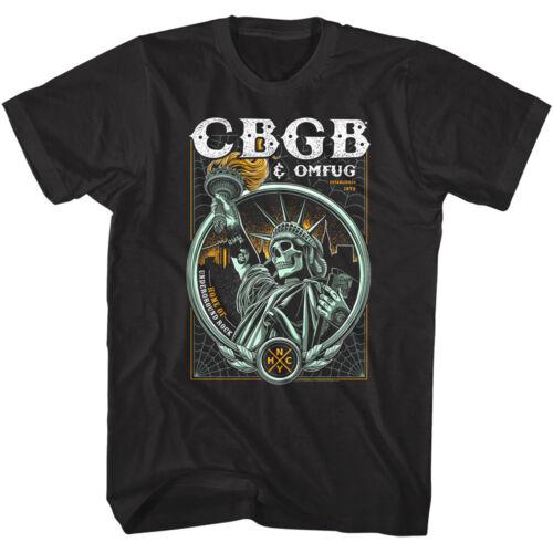 CBGB OMFUG Squelette Statue de la liberté Hommes T Shirt Crâne New York Punk Rock Tour