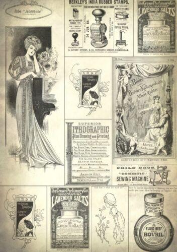 Decoupage-Serviettentechnik-Softpapier-Vintage-Nostalgie-Retro-12063