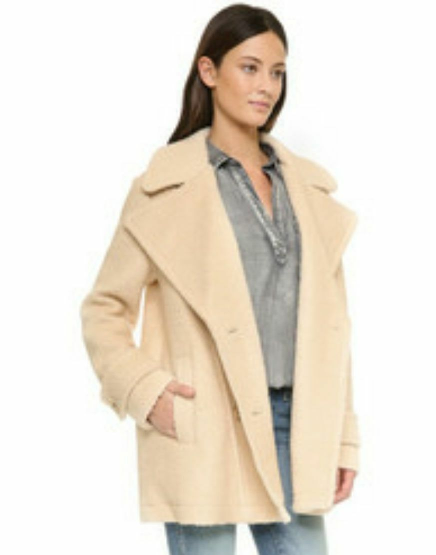 NEW WOMEN'S FREE PEOPLE HARNIE COLLAR PEACOAT PEACOAT PEACOAT SIZE LARGE 091fcc
