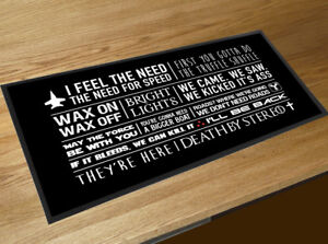 Bar Runner Movie Quotes From The Best 80 S Cult Films Bar Mat Pubs