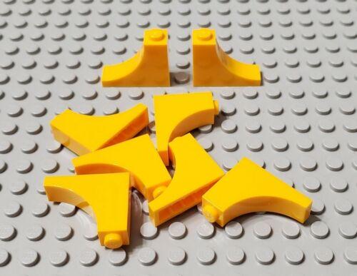LEGO New Lot of 8 Bright Light Orange 1x3x2 Inverted Arch Bricks