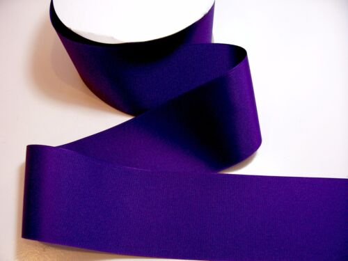Wide Purple Ribbon Cheer Bow Offray Sugar Plum Grosgrain 3 inches wide x 3 yds