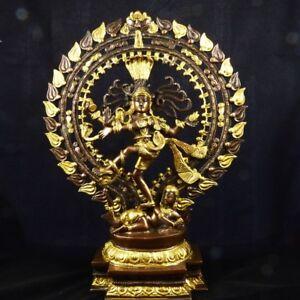 Der Kosmische Tänzer LiebenswüRdig Shiva Nataraja Messingguss Aus Indien GroßE Vielfalt