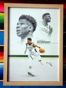 45cm x 32cm x 3cm ✺Framed✺ GIANNIS ANTETOKOUNMPO Milwaukee Bucks NBA Poster
