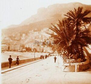 Monaco 1902 La Condamine Foto Stereo PL58L32n12 Placca Lente Vintage