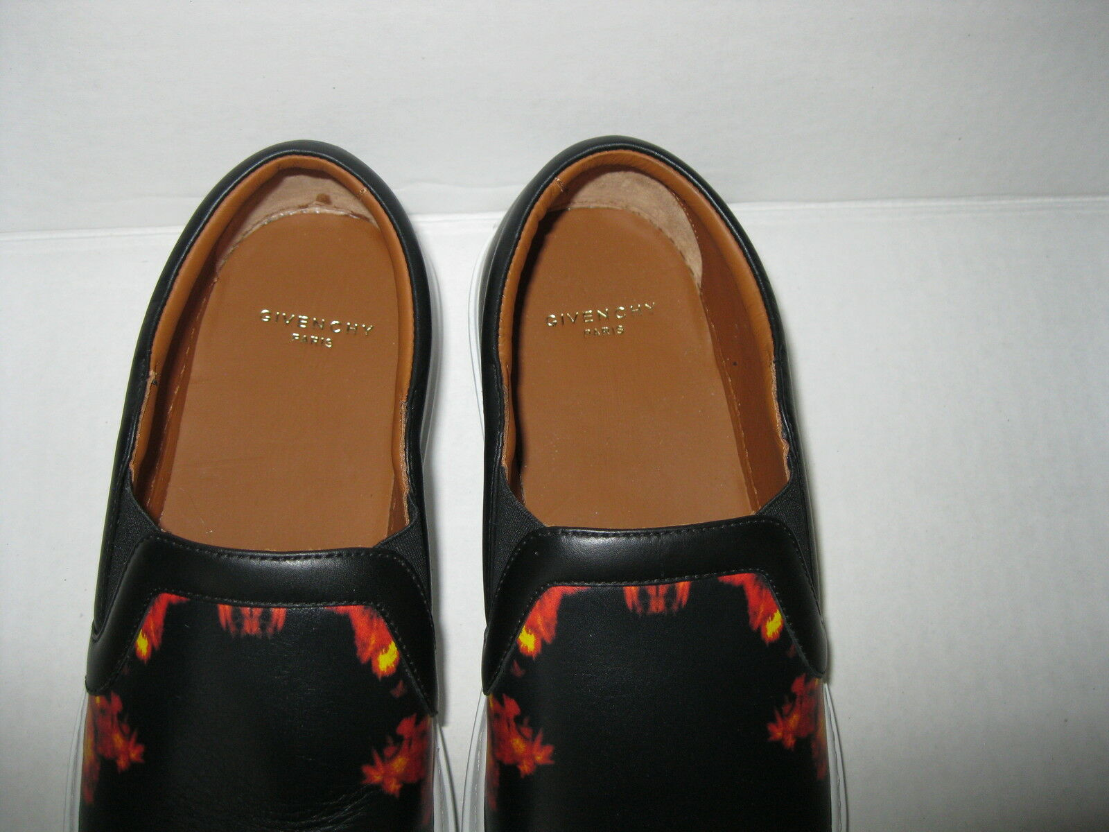 Givenchy Fire Flame Print Print Print Leather Slip On scarpe da ginnastica Skate scarpe 40 1 2, 10 1 2 fc2a6b