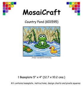 MosaiCraft-Pixel-Craft-Mosaic-Art-Kit-039-Country-Pond-039-Frog-Pixelhobby