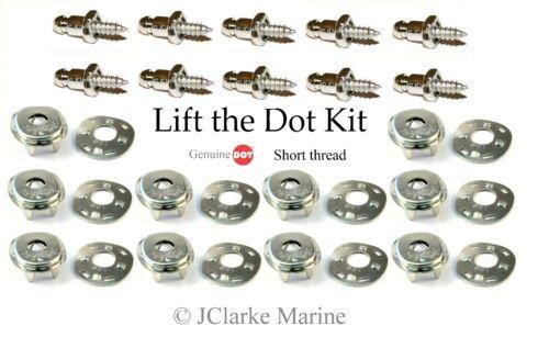 """boat cover fastener Lift the dot kit 3//8/"""" stainless screw stud, socket, plate"""