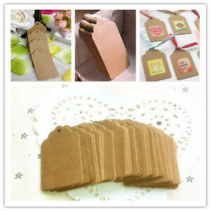 ... Brown-Kraft-Paper-Gift-Tags-Wedding-Scallop-Price-Label-Luggage-5-3cm
