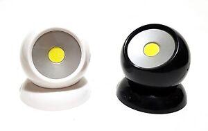 COB-LED-360-180lm-Lampara-de-trabajo-Luz-kugellicht-Magnetico-Negro-O-Blanco