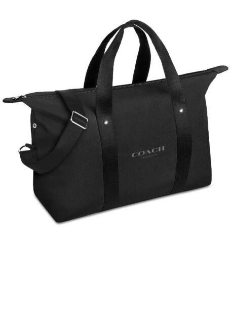 Coach Fragrance Weekender Duffle Bag Black Crossbody Travel Gym Handbag