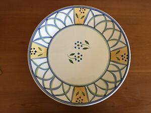 Caleca-Greca-Round-Chop-Plate-Platter-Made-in-Italy-New-14-034-HTF