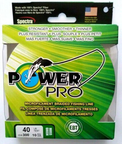 environ 18.14 kg Power Pro des microfilaments braidline 40 lb 300YDS vert mousse objet K 70