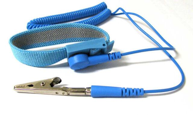 NEW Anti Static Antistatic ESD Adjustable Wrist Strap Band Blue