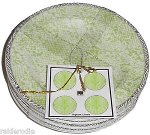 222-Fifth-Python-Lime-Fine-China-Set-of-Four-Appetizer-Plates-NEW