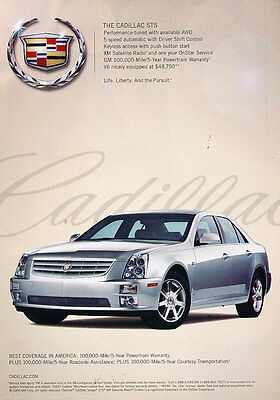 2002 Cadillac Seville STS decals Classic Vintage Advertisement Ad A14-B