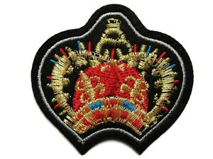 Sew-on Patch Applique Kingdom of Portugal Medieval Crest Embroidered Iron