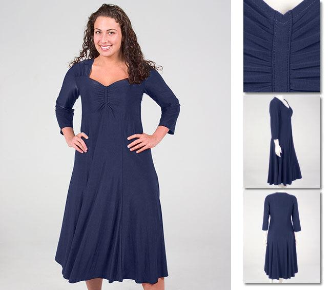 NEW Zaftique ELEGANT Dress NAVY blueE 0Z 1Z 2Z 3Z 4Z   14 16 20 L XL 1X 2X 3X 4X