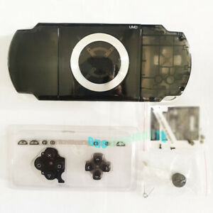 Transparent-Black-For-PSP1000-2000-3000-Consoles-Repair-Housing-Shell-Cover-Case