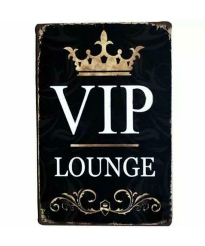 Metal Plate Sign Vip Lounge Wall Cave Tin Home Decor Art Poster CLub Party Bar