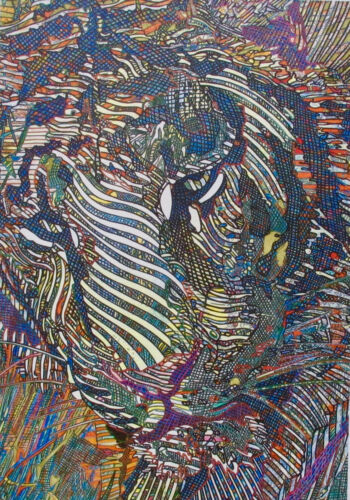 Guillaume Azoulay TIGRES Hand Signed Giclee on Canvas TIGER ART