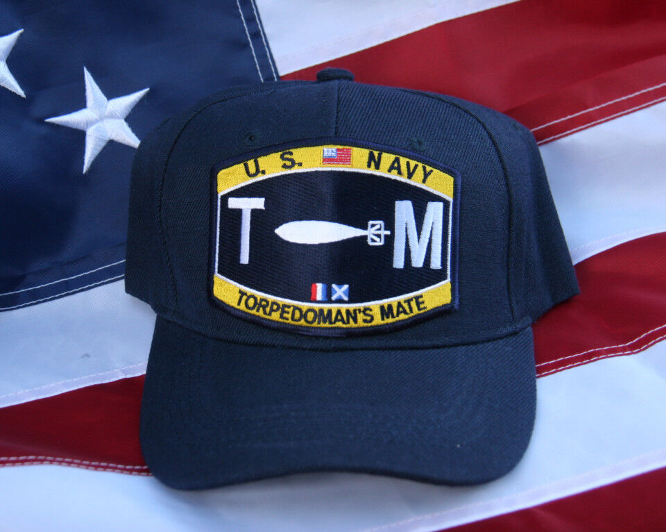 TM TORPEDOMAN MATE RATING HAT PATCH US NAVY WOWNH PIN UP USS TORPEDO ... 533246922ef