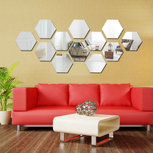 Hot Sale New 3D Acrylic Mirror DIY Wall Home Decal Mural Decor Vinyl Art Sticker