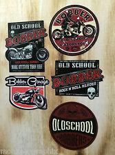 5er Bobber Oldschool Biker Aufkleber Sticker Set Retro Vintage Motorrad USA