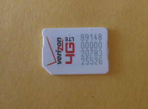 Details about Lot of 3 Verizon Nano SIM Cards used No Service for  Test/Bypass only