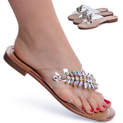 ZuverläSsig Damenschuhe Glitzer Sandalen Transparent Mules Pantoletten Sandaletten Den Menschen In Ihrem TäGlichen Leben Mehr Komfort Bringen