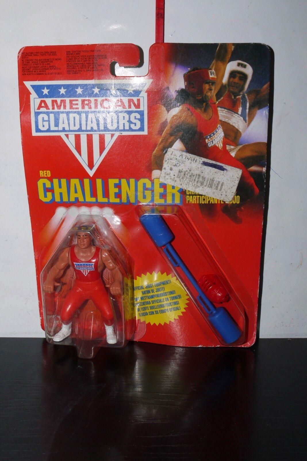 VINTAGE 1991 MATTEL AMERICAN GLADIATORS RED CHALLENGER FIGURE MOC