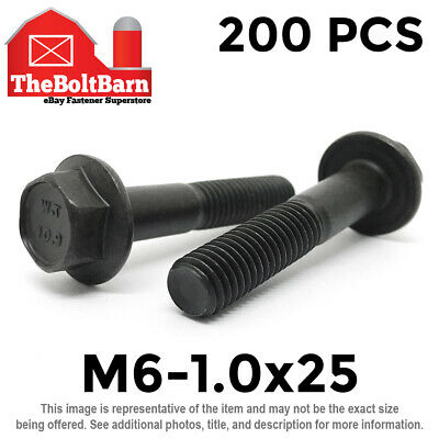 25 M12-1.75 Hex Flange Nuts Class 10 Phos /& Oil