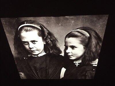 "Original Oskar Rejlander ""sisters Nower 1860"" Albumen Victorian Photography 35mm Slide Art"