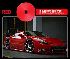 8m Auto Accessories Car Universal Exterior Wheel Rim Guard Decorative Red Line