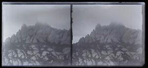 Rocher Montagne c1920 Foto Negativo Placca Da Lente Stereo Vintage VrL16n8
