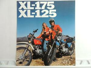 vintage 1976 honda xl 175 xl 125 dealer brochure l595 ebay. Black Bedroom Furniture Sets. Home Design Ideas