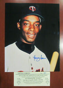 Signed-8x10-photo-Lenny-Green-MN-Twins