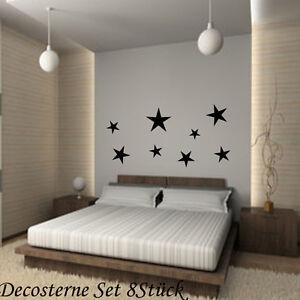 8-Sterne-Kachelaufkleber-Fensteraufkleber-Fliesensticker-Wallart-Wandtattoo-XL