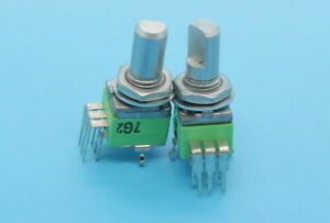 2 x 9mm Alpha B50K 50K Linear Taper Potentiometer Dual Gang RTangle PC Mount
