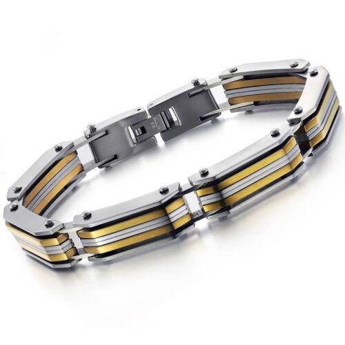 Men/'s Unisex Stainless Steel Black  Bracelet G29