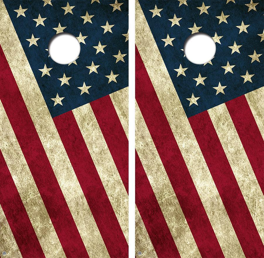 Old Glory  Flag Limited Edition Cornhole Board Skin Wrap FREE SQUEEGEE  latest styles