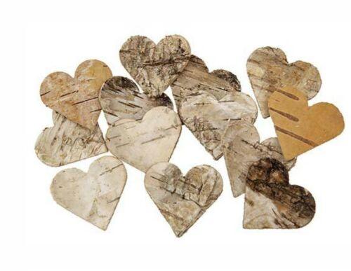 80 Pzi betulle cuore 4cm Decorazione Betulla cuori in legno di betulla CUORE MATRIMONIO CUORI IN LEGNO