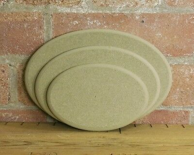 Wooden MDF Oval craft plaque plinth blank template 12mm thick rounded profile