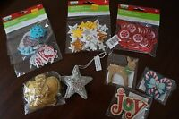 Lot Of Christmas Assorted Stickers Ornaments Wooden Shapes From Michaels
